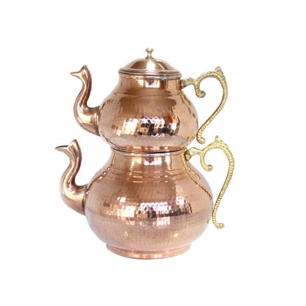 Iranian Hammered Copper Kettle & Teapots Model Raha