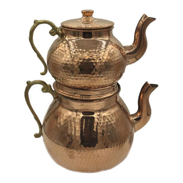 Iranian Hammered Copper Kettle & Teapots Model Silva01