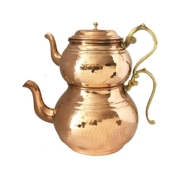 Iranian Hammered Copper Kettle & Teapots Model T190