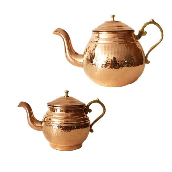 Iranian Hammered Copper Kettle & Teapots Model Vira