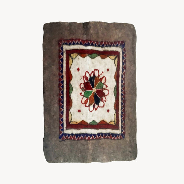 Iranian Handmade Wool Felt Rug Tb301