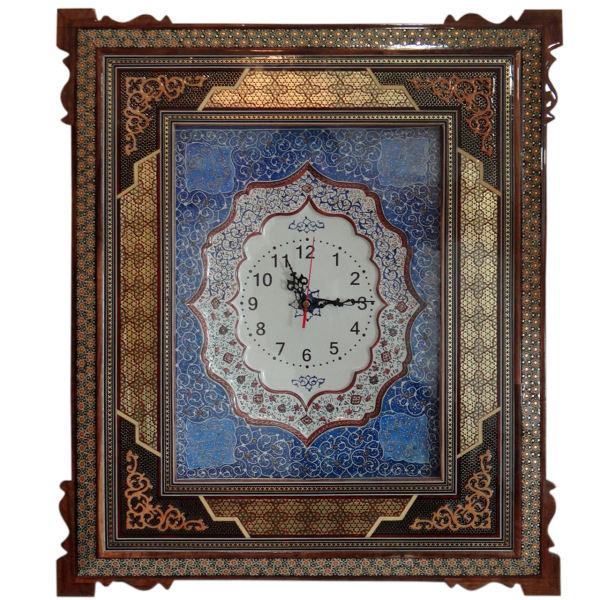 Iranian Khatam Kari Wall Clock Model Sahra