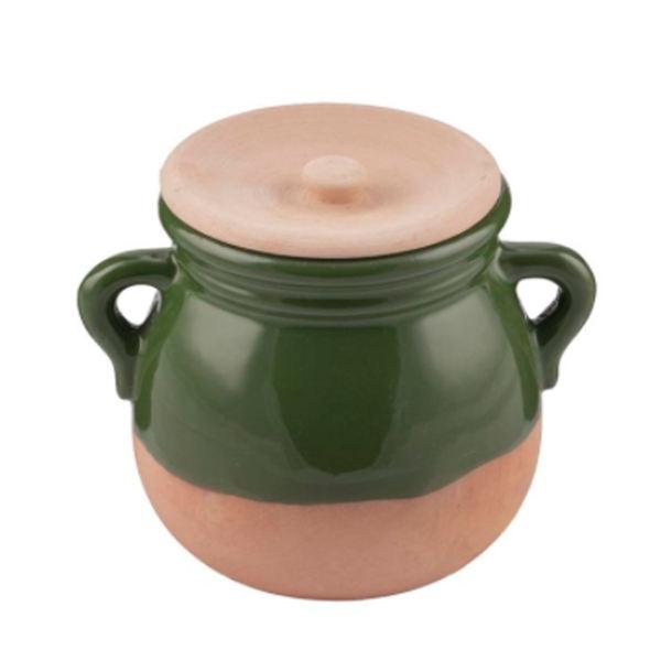 Iranian Pottery Dizi Pot Model Green