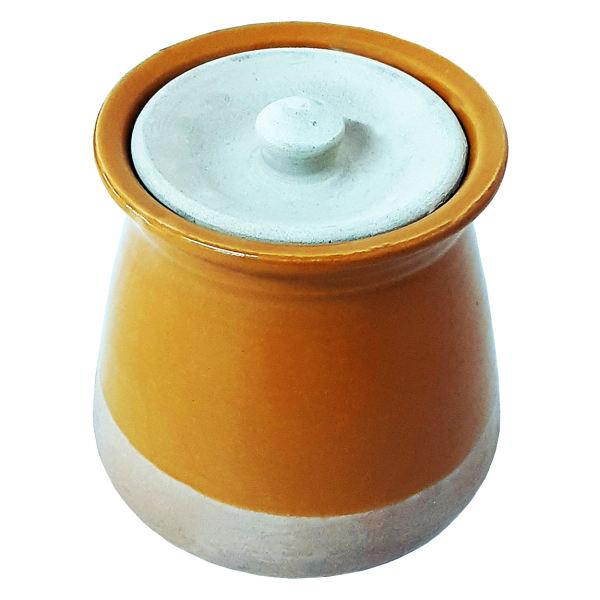 Iranian Pottery Dizi Pot Model Mustard Yellow