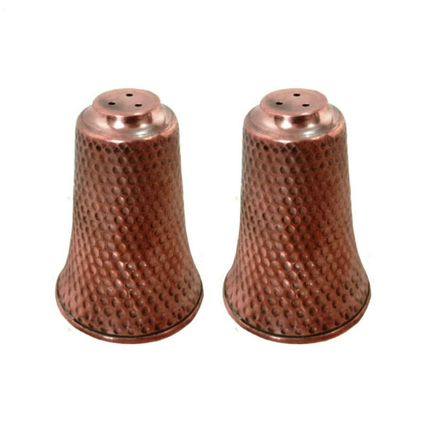 Iranian Set of 2 Copper Salt Shaker Model Almas