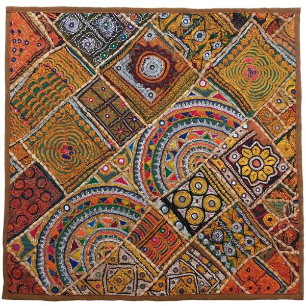 Iranian Suzani Embroidery Tablecloth Model Town Map