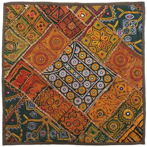 Iranian Suzani Embroidery Tablecloth Model Town Map02