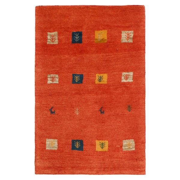 Iranian Wool Handwoven Gabbeh Rug Model Peach Color