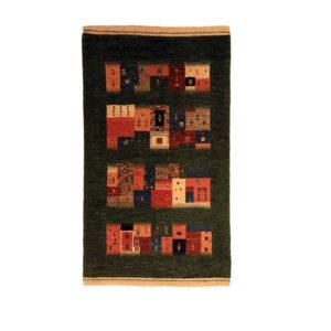Iranian Wool Handwoven Gabbeh Rug Model Sana