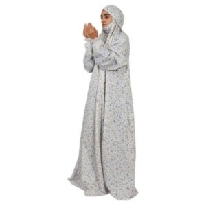 Islamic Women Namaz Chador Model White 23