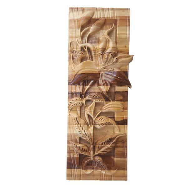Monabat Kari Wooden Carved Tableau Lilium Flower