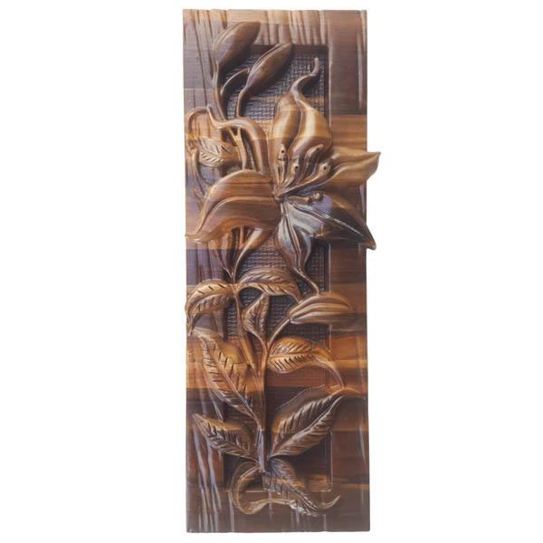 Monabat Kari Wooden Carved Tableau Lilium Flower01