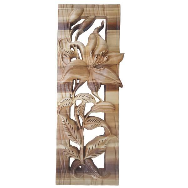 Monabat Kari Wooden Carved Tableau Lilium Flower02