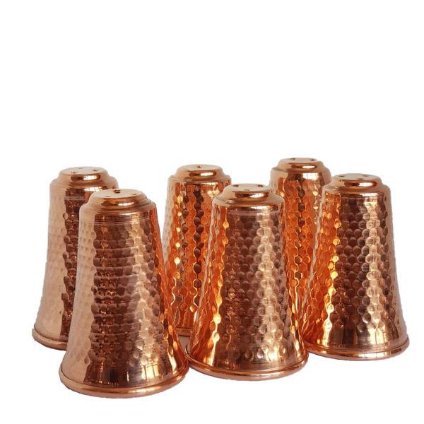 Persian Copper Salt Shaker Model Cylindrical (6X)