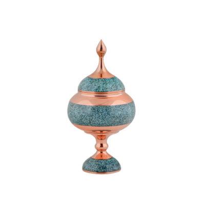Persian Firuzehkubi Copper Candy Dish Model Hirbod