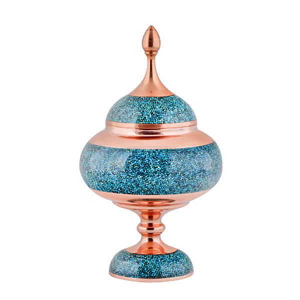 Persian Firuzehkubi Copper Candy Dish Model Rosegold