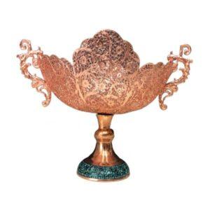 Persian Firuzehkubi Copper Candy Dish Model Royal
