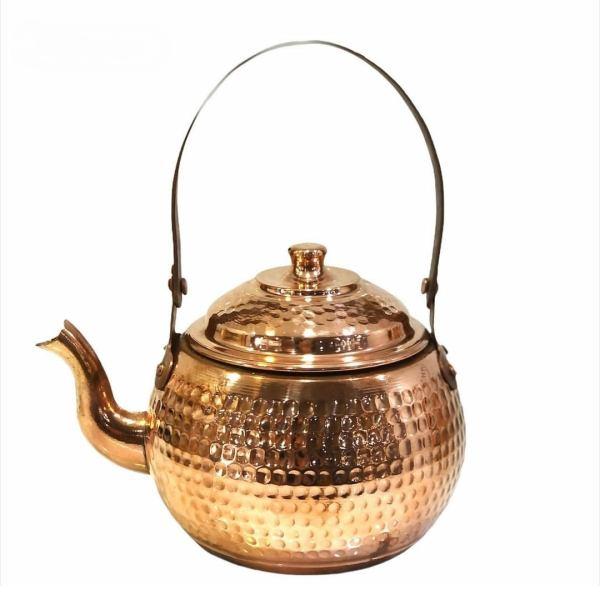 Persian Hammered Copper Tea Kettle Model Mahan