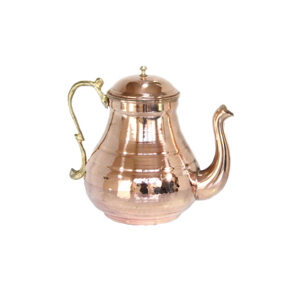 Persian Hammered Copper Tea Kettle Model Shiny