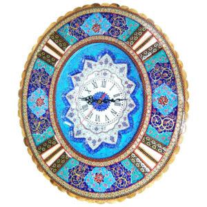 Persian Minakari wall clock Model Sunshine