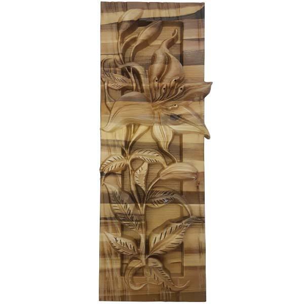 Persian Monabat Kari Wooden Carved Tableau Lilium01