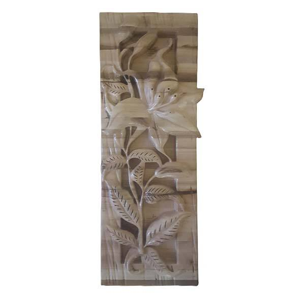 Persian Monabat Kari Wooden Carved Tableau Lilium02
