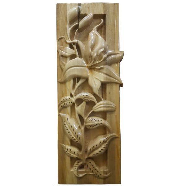 Persian Monabat Kari Wooden Carved Tableau Lilium03