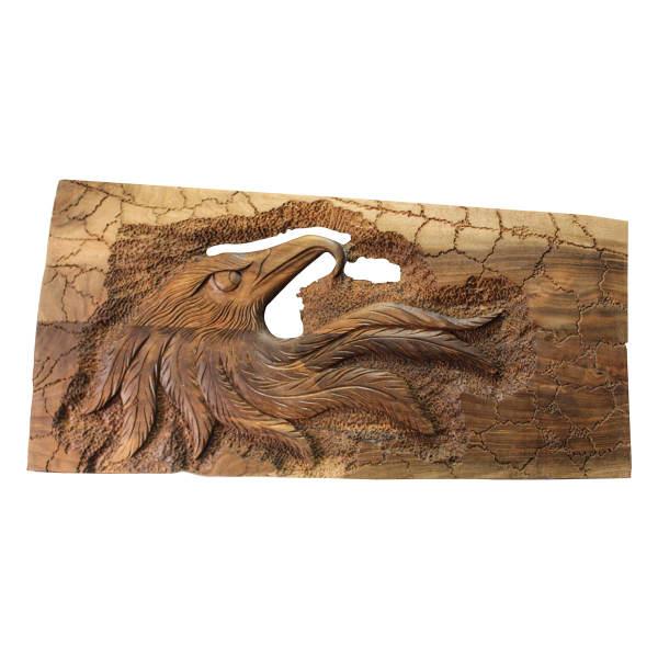 Persian Monabat Kari Wooden Carved Tableau - Soltan