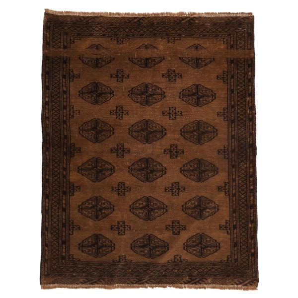 Persian Old Handwoven Wool Collage Rug Model Arash