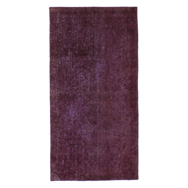 Persian Old Handwoven Wool Collage Rug Model Purple