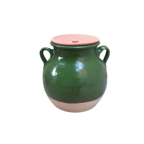 Persian Pottery Dizi Pot Model Dark Green II