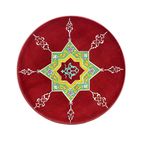 Persian Pottery Plate Model Cherry Color