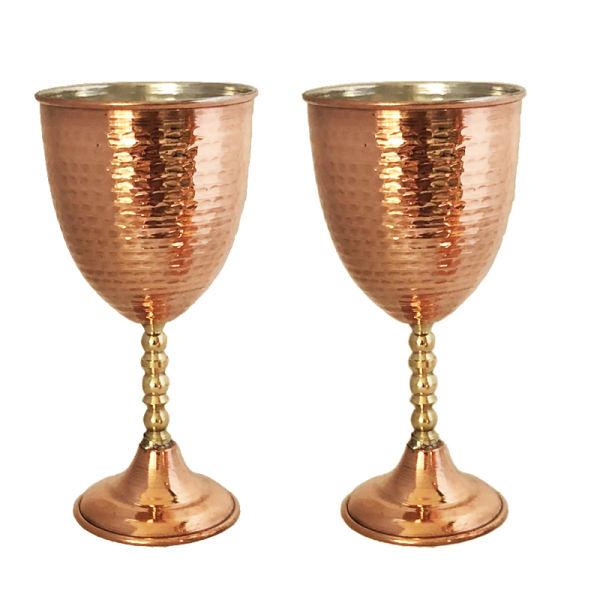 Persian Set of 2 Vintage Copper Grail Model Moon