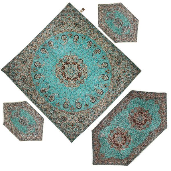 Persian Set of 4 Termeh Tablecloth Model Karmania