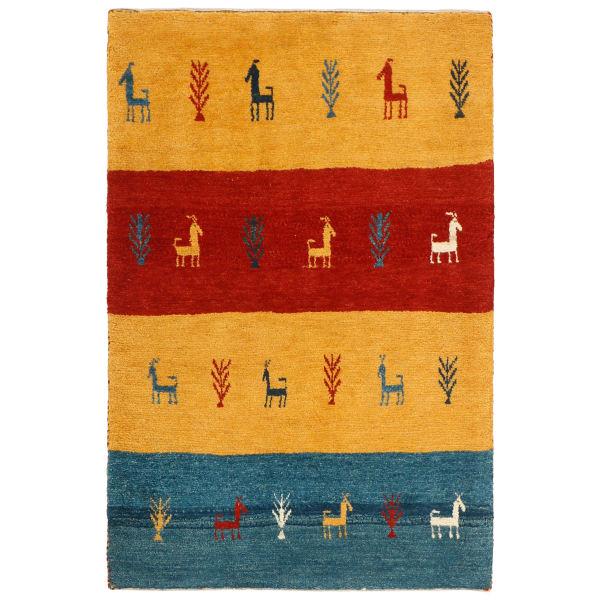 Persian Wool Handwoven Gabbeh Rug Model Horse