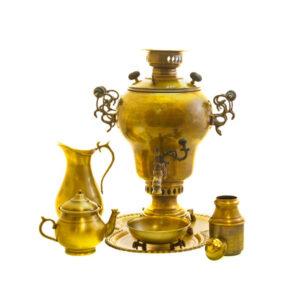 Set of 6 Persian 8 Liter Brass Samovar Model C3666