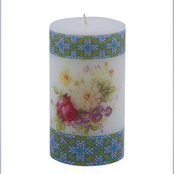 Iranian Candle Model Purple Flower (X3)
