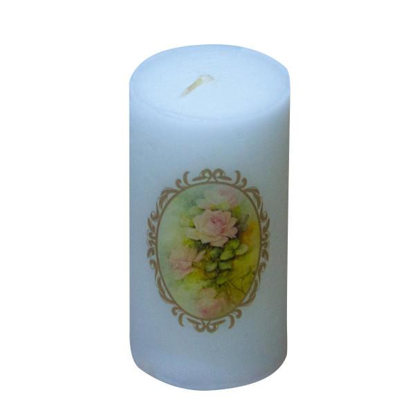 Iranian Candle Model Yellow Flower (X2)