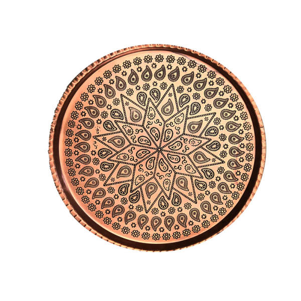 Iranian Copper Serving Tea Tray Model Toranj