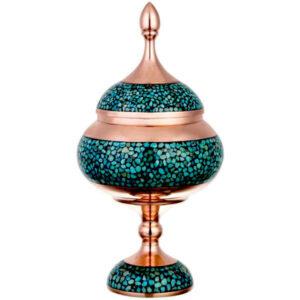 Iranian Firuzehkubi Copper Candy Dish Model Bita33