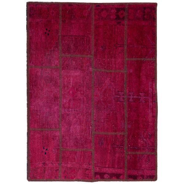 Iranian Old Handwoven Wool Collage Rug Model vira01