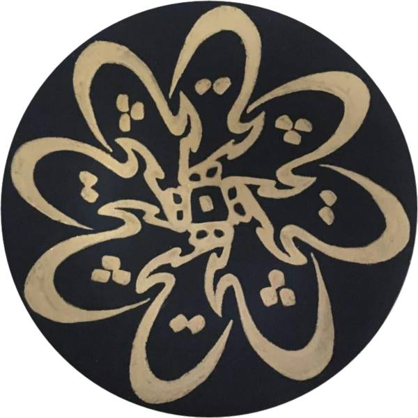 Iranian Pottery Plate Model Hich (Nothing)