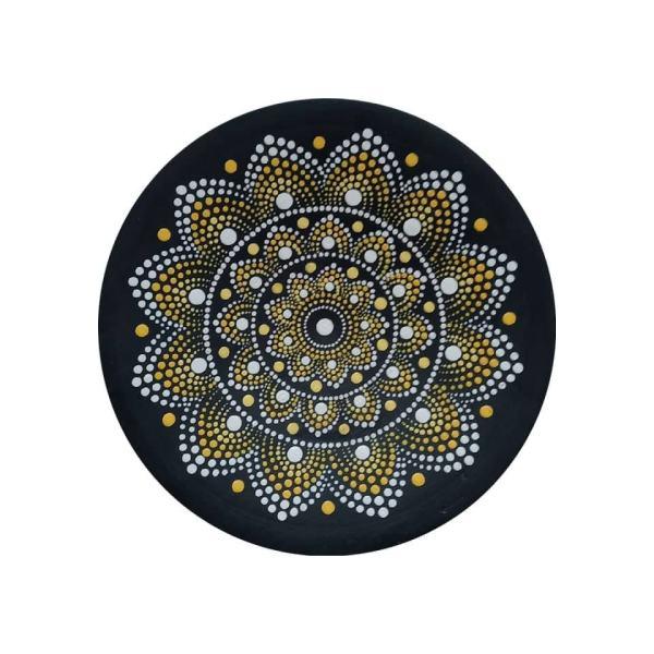 Iranian Pottery Plate Model Matte Black