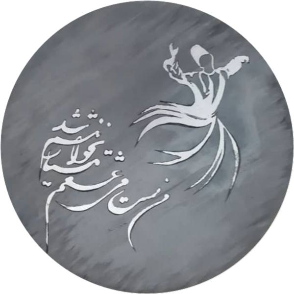 Iranian Pottery Plate Model Sama Dance01