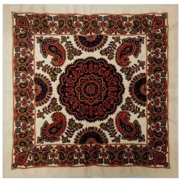 Iranian Suzani Embroidery Tablecloth Model Golshan