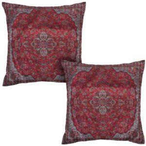 Iranian Termeh Cushion Cover Model Vermilion (2X)