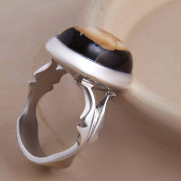 Islamic Handmade Men's Silver Ring Model Sulemani Akeek