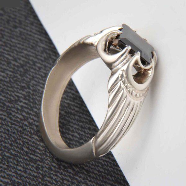 Islamic Men's Hadid Ring Model Mahan I