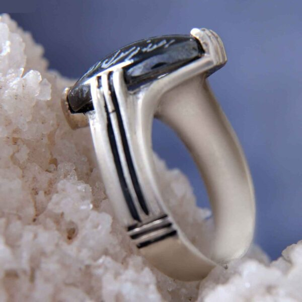 Islamic Men's Hadid Ring Model Mahan II