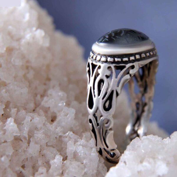 Islamic Men's Hadid Ring Model Mahini 01